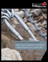 Anclaje de cable espiroidal y cabezal FLEX