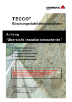 Appendix TECCO&reg; SYSTEM<sup>3</sup> - Installationsschritte