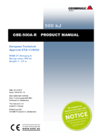Product manual GBE-500A-R