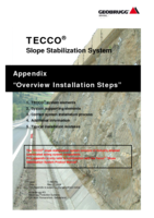 Appendix TECCO&reg; SYSTEM<sup>3</sup> - installation steps overview