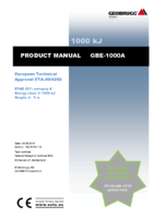 Product manual GBE-1000A