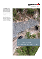 Self emptying rockfall protection