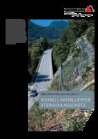 Schnell installierter Steinschlagschutz GBE-100A-R (-100kJ)