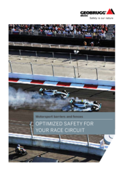Motorsport barriers made of high-tensile steel wire