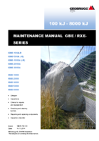 Maintenance manual GBE / RXE barriers