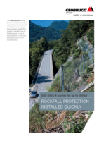 Rockfall protection installed quickly GBE-100A-R (-100kJ)