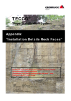 Appendix TECCO&reg; SYSTEM<sup>3</sup> - rock faces