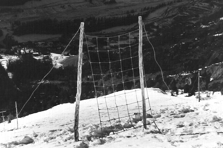 First avalanche protection net
