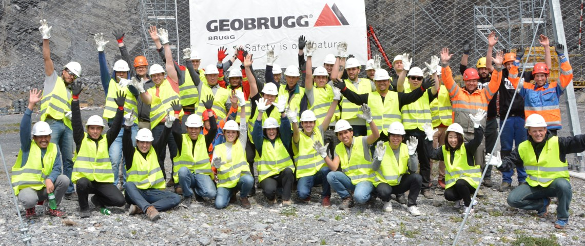Participants after installation of a GBE barrier