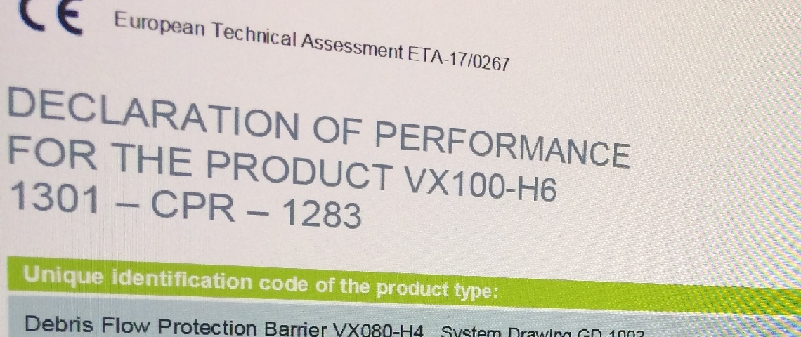 Geobrugg barriers bear the CE marking