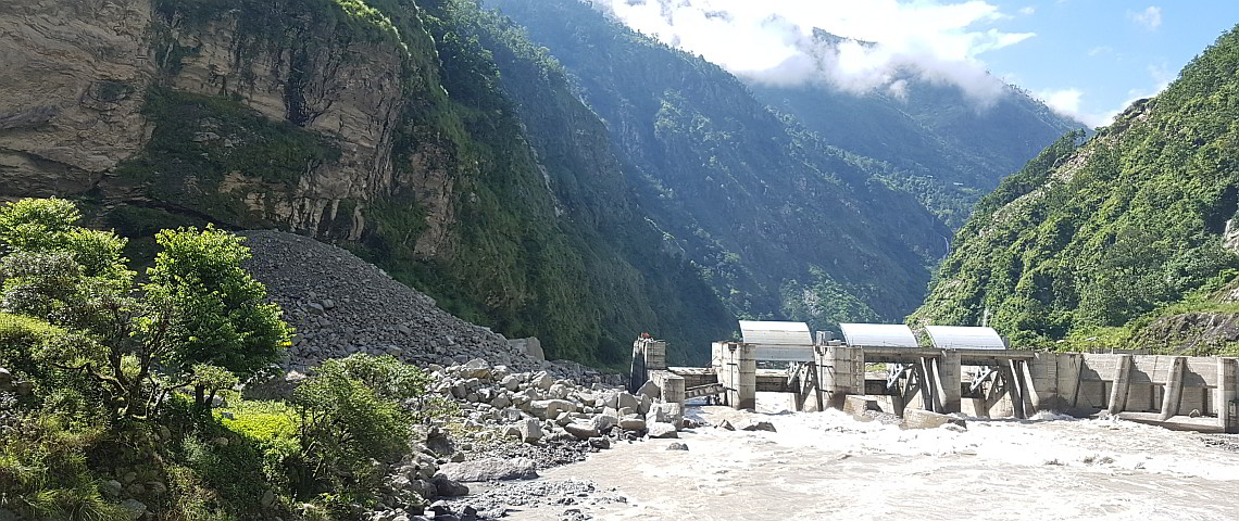 Powerplant Trishuli, Nepal protected by Geobrugg barriers