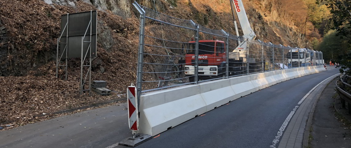 Temporary Road Fencing - Works protection