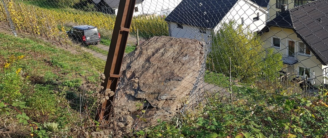 Catching fence with impact, Valwig, Germany