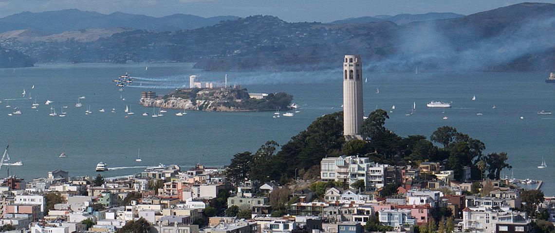Geobrugg installiert die Systeme TECCO® und SPIDER® als Böschungsstabilisierung und Steinschlagschutz in San Francisco.