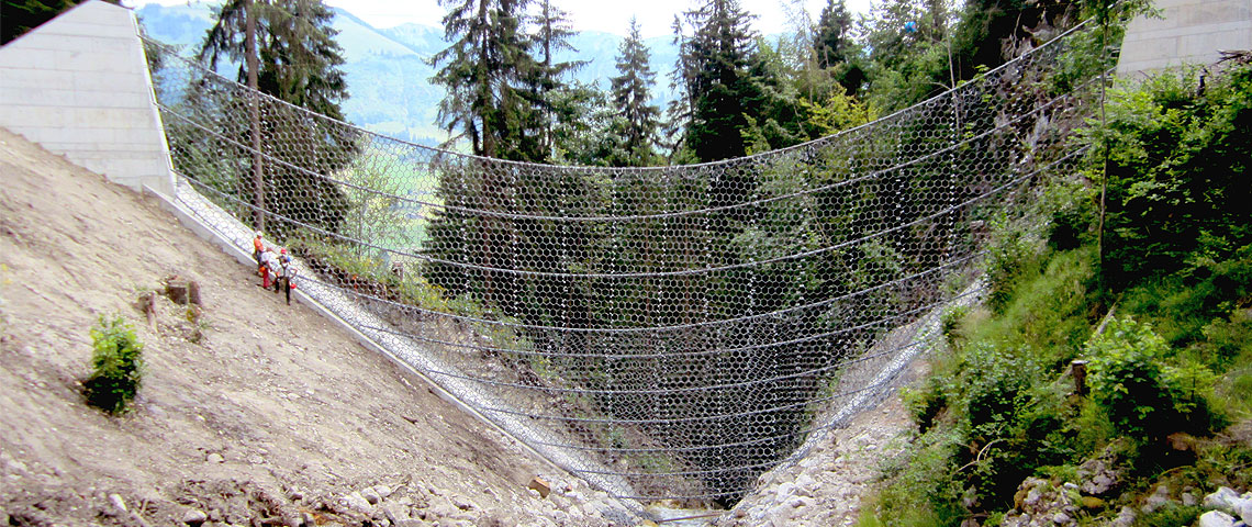 World's largest flexible debris flow barrier