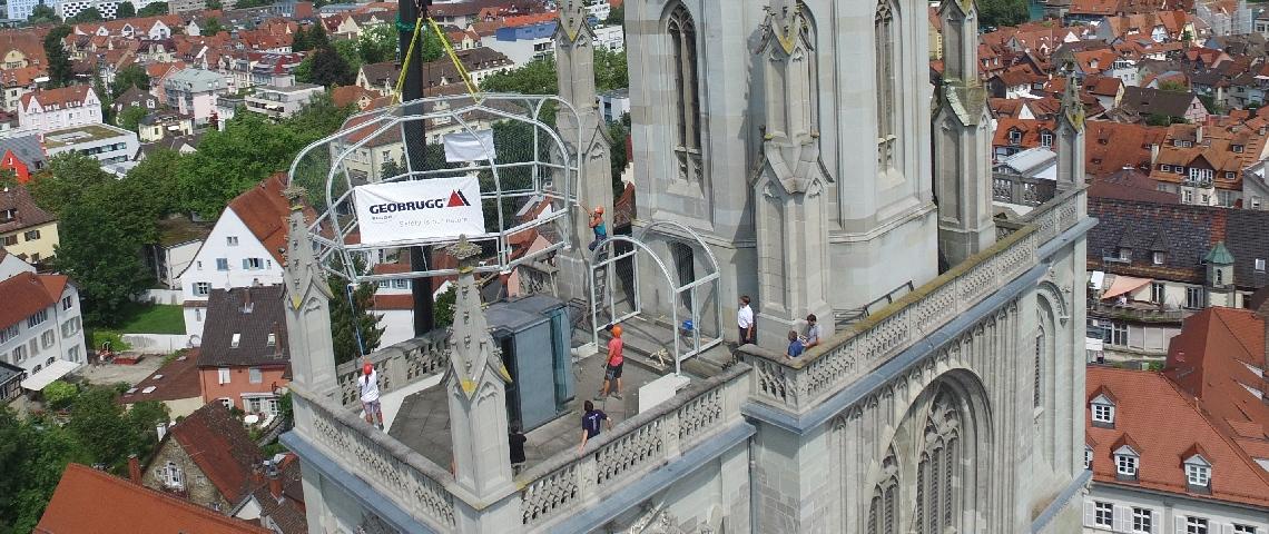 Fallschutz, Übersteigschutz, Gitterkuppel, Kronen, Kathedrale Konstanz