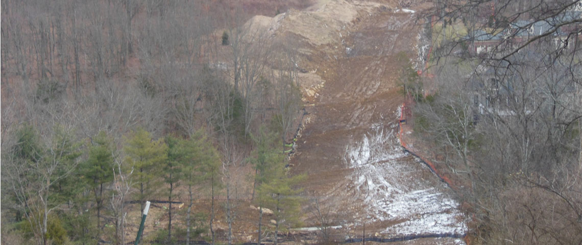 Installation of TECCO&reg; SYSTEM<sup>3</sup> in an earth retention project