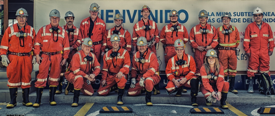 International Participants before entering CODELCO's El Teniente NML Mine