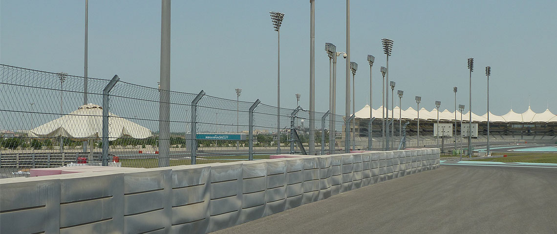 Geobrugg Debris Fence for Yas Marina Circuit in Abu Dhabi