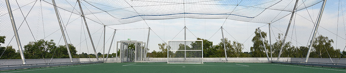 Net structures for sports facilities