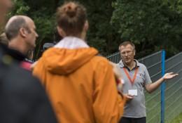 Alexander Bittendorfer from Geobrugg informs visitors. Bild: GEORADO