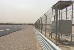 Geobrugg motorsport barriers and debris fences at Kuwait Motor Town