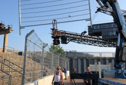 Installation mobile debris fence Ferropolis