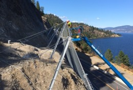 Installation of Attenuators in Kelowna/Canada.