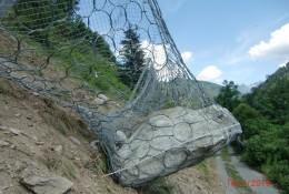Rockfall - Impact on RXE-500-LA barrier