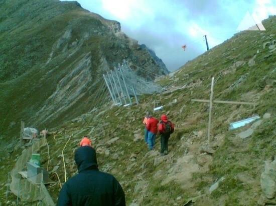 Prevenção de avalanches - Valle Martello 2007