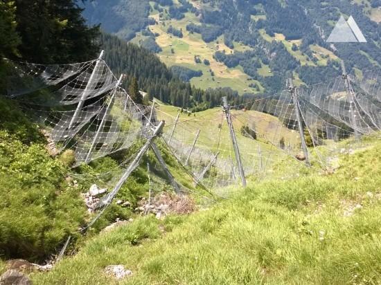 Prevención de aludes - Geisshorn-Arensa snow nets 2012