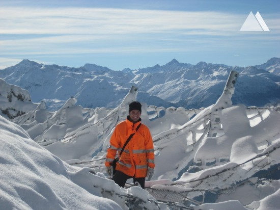 Avalanche Prevention - Geisshorn-Arensa snow nets 2012