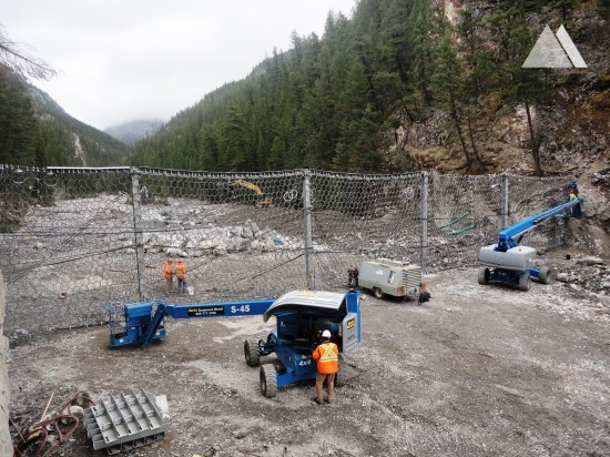Cougar Creek Debris Flow Barrier 2014 - Geobrugg