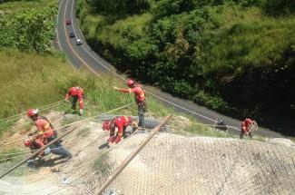 Road 27 San José - Calderas slope stabilization 2015 - Geobrugg