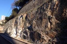 Railway line M202 Rijeka – Zagreb near Rječina 2014 - Geobrugg