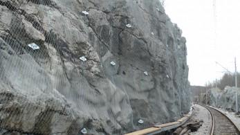 Slope protection along railway line M502 Šapjane-Permani 2015 - Geobrugg