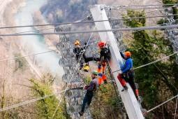 Trbovlje rockslide protection 2016 - Geobrugg