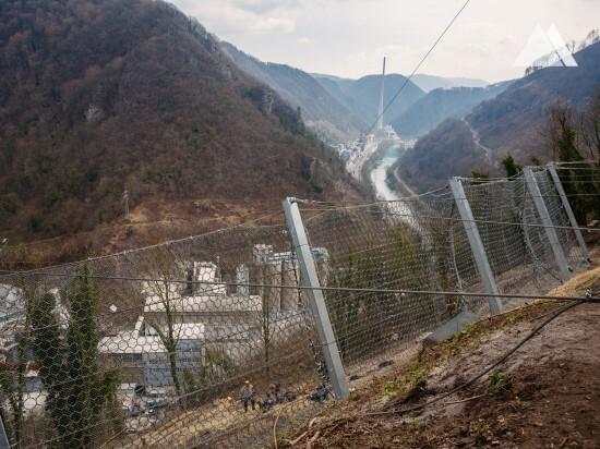 Rockfall Protection - Trbovlje rockslide protection 2016