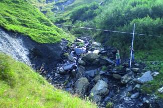Milibach, Cantón de Berna: Retención de flujos de detritos. 2011 - Geobrugg