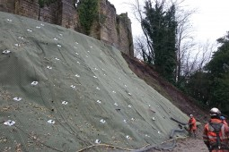 Slope Protection - Cockermouth Castle 2016