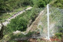 Ausserfernbahn Ehrenberg near Reutte, Austrian Railway ÖBB 2015 - Geobrugg
