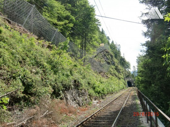 Steinschlagschutz - Ausserfernbahn Bereich Ehrenberg bei Reutte, ÖBB 2015