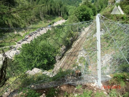 Protecţia împotriva căderilor de pietre - Ausserfernbahn Ehrenberg near Reutte, Austrian Railway ÖBB 2015