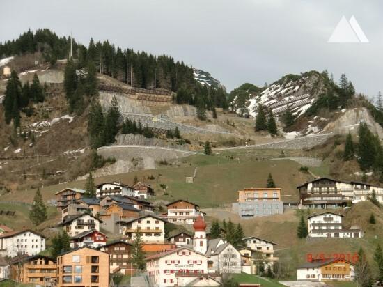 Arlberg Mountain Pass - road connection Rauz-Stuben 2015 - Geobrugg