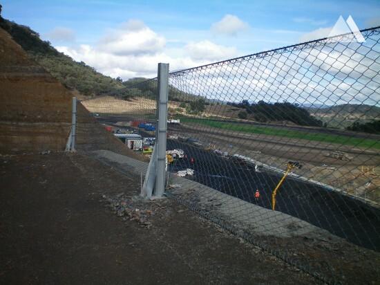 Protection contre les chutes de pierres - Airly Mine 2010