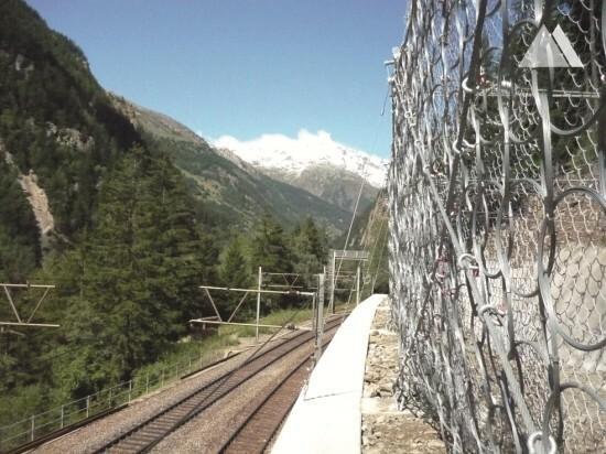 Proteção contra desprendimentos - Bubichopf - BLS Goppenstein–Brig line 2010