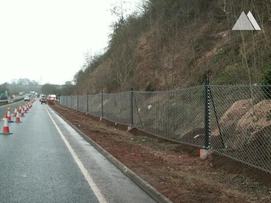 Glewstone A40 Road 2013 - Geobrugg