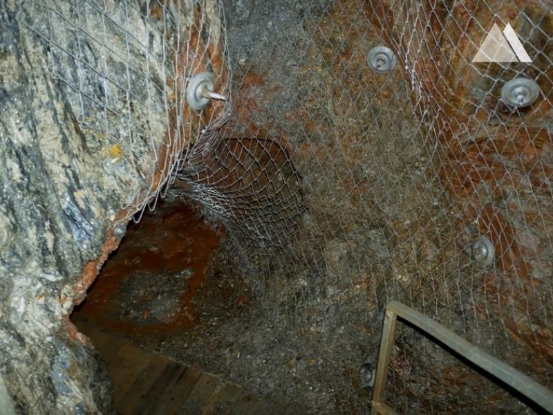 """""""St. Johannes's  mine"""" - underground tourist route in Krobica, Poland 2012 - Geobrugg"""