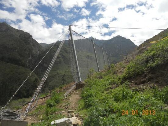 Protection contre les chutes de pierres - Coricancha mine 2012