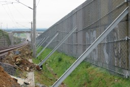 Impact Protection Systems Reinforcement of a protection wall 2002 - Geobrugg